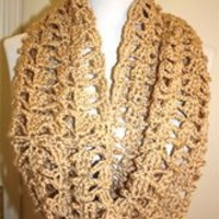 Homemade Chunky Infinity Scarf - Camel