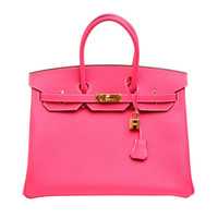 Hermes Rose Tyrien Epsom Birkin 35cm with Gold Hardware