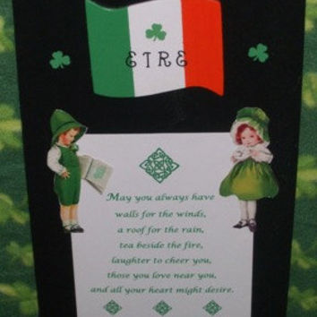 EIRE  Irish Sign or Wall Decor by mareestreasures on Etsy