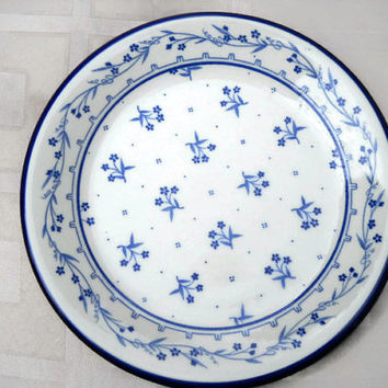 Vintage Salad Plate of Sango 260 Blue Bouquet Dinnerware - Sango 260 Blue Salad Plate