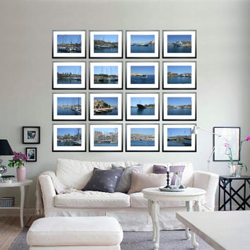 """Set of 16 Sea Photography Nautical Collection """"Yachts in Malta"""" photo Large art wall decor JPEG via E-mail Printable instant download"""