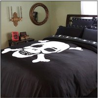 Skull Duvet Cover by Sin In Linen
