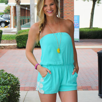 Have The Time Of Your Life Romper - Mint
