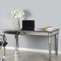 Statements by J Lusetta Mirrored Desk - Silver