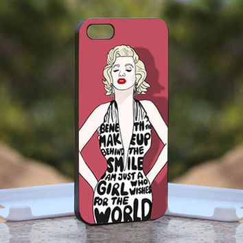 Marilyn Monroe Body Quote  - Design available for iPhone 4 / 4S and iPhone 5 Case - black, white and clear cases