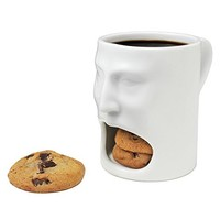 250ml Dunk Mug - Ceramic Cookies Mug with Biscuit holder