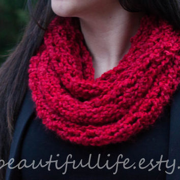 Soho Infinity Scarf - Red - Valentines Day