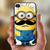 Despicable Me Mustache Minion  - Photo Print for iPhone 4/4s Case or iPhone 5 Case - Black or White