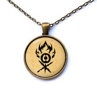 Fantasy jewelry Magic the Gathering necklace Gruul pendant