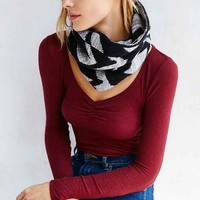 Verloop Stamped Herringbone Snood Scarf