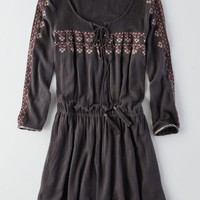 AEO Women's Embroidered Fit & Flare Dress