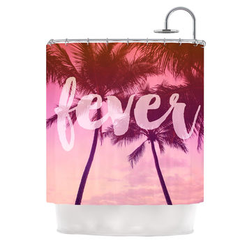 "Catherine McDonald ""Fever"" Pink Red Shower Curtain"