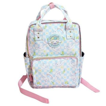 kawaii Cinnamoroll Dog Japanese Anime pu Backpack Schoolbag Primary School Bags Teenage Girls Female School Shoulder Bag Bagpack