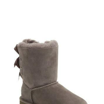 UGG Australia | Bailey Bow Genuine Sheepskin Lined Boot (Toddler) | Nordstrom Rack