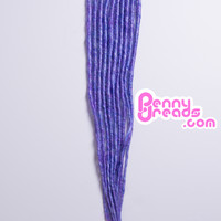 Lavender/Blue Mix U-Tip Synthetic Dreadlocks (10 pieces)