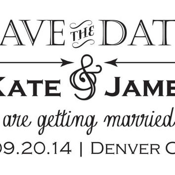 Custom 5x7 Save the Date Set of 25, Chalkboard, Vintage, Floral Style Weddings-Ask a Question