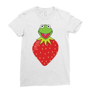 Kermit Strawberry Ladies Fitted T-Shirt