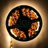 Hitlights Warm White Flexible Ribbon LED Strip Light, 300 LEDs, 5 Meters (16.4 Feet) Spool, 12VDC Input (Adapter not included):Amazon:Home Improvement