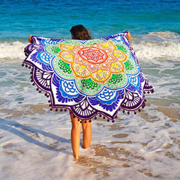 Women Small Ball Beach Cover Up 2017 Tunic Summer Swimwear Sexy Bikini Bathing Suit Pareo Cloak Saida De Praia