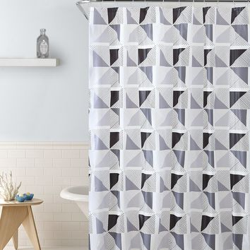 "Royal Bath Spinning Windmill PEVA Non-Toxic Shower Curtain - 72"" x 72""with 12 Matching Roller Hooks"