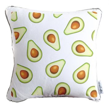 Avocado Decorative Throw Pillow w/ Reversible Gold & White Sequins - COVER ONLY (Inserts Sold Separately)