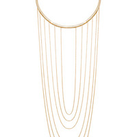 Drop Chain Choker Necklace in Gold