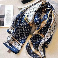 LV Silk Scarf Louis Vuitton Women Silk Kerchief Cape Scarf Scarves I-TMWJ-XDH