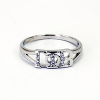 Gamma Phi Beta Sterling Silver Ring set with Lab Created Diamonds