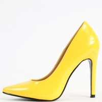Pointy Single Sole Neon Pumps | MakeMeChic.com