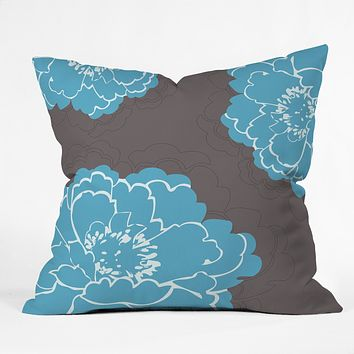 Caroline Okun Autumn Peony Throw Pillow