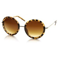 Tortoise Circle Sunglasses