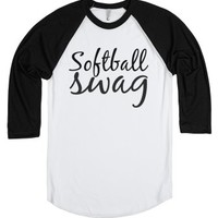 Softball Swag tee t shirt baseball tee white/black-T-Shirt