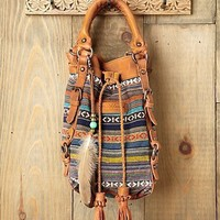 Free People Jacquard Bucket Bag