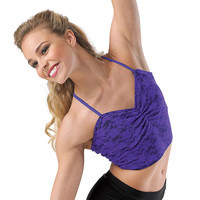 Neon Lace Camisole Crop Dance Top; Balera
