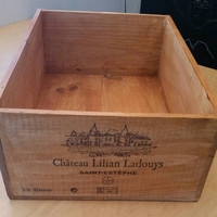 French wine crate, and cheaper raw wine crates available at our shop for DIY!