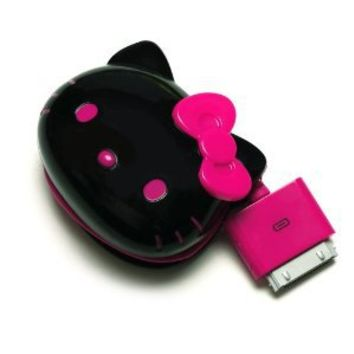 Sanrio Hello Kitty Face-shaped AC Battery Charger for iPhone 4S/4, iPod (Black)