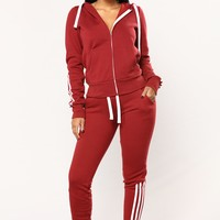 Lover Lounge Jogger - Burgundy