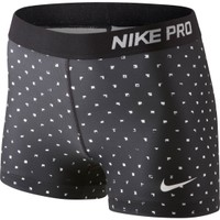 Nike Women's Pro Core 3'' Printed Compression Shorts