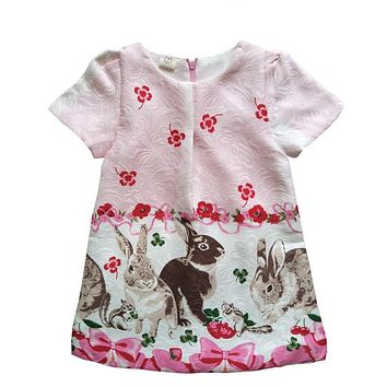 Floral Print Toddler Dress Back To School
