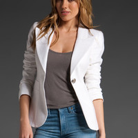 SMYTHE One Button Blazer in White at Revolve Clothing - Free Shipping!