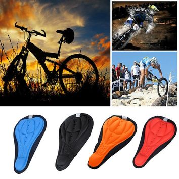 Bicycle Saddle Seat Cover Cycling Bike Silicone Saddle Seat Cover Silica Gel Cushion Soft Pad Comfortable for Long Time Riding