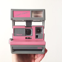 1980s Polaroid Cool Cam / Pink and Grey / Gray / Instant Film Camera / Accepts Impossible Project Film / Vintage Industrial Accessory / 1988