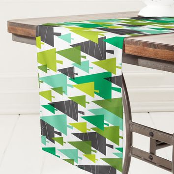 Heather Dutton Winter Woods Green Table Runner