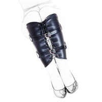 Hot Sale Black Soft PU Leather Calf Restraint Bound Leg Straps Ankle / Leg / Foot Cuffs Bondage Restraint Adults Sex Toys