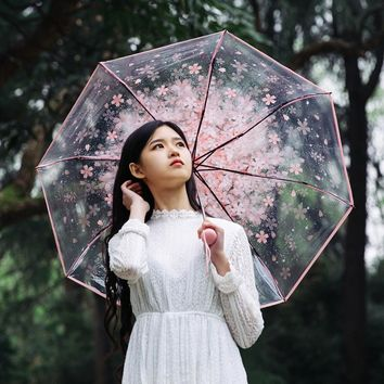 Floral Clear Umbrella