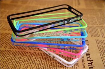 6x Colorful Clear Bumper Frame TPU Silicone Case for iPhone 5 5G w/volume button