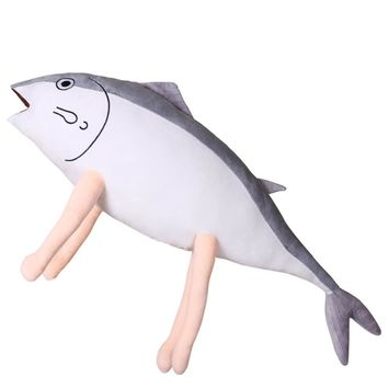 Kantai Fish Man Playful Plush Cotton Soft Pillow