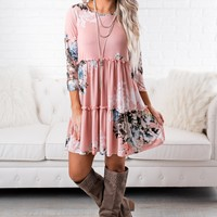Daydream Floral Dress (Blush)