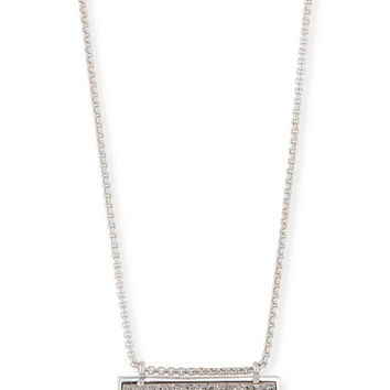 Kendra Scott Leanor Pendant Necklace in Rhodium