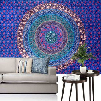 Ouneed Popular Wall Tapestry Manlada High Quality India Tapestry Wall Hanging Yoga Bedspread Beach Towel Happy Sale ap516